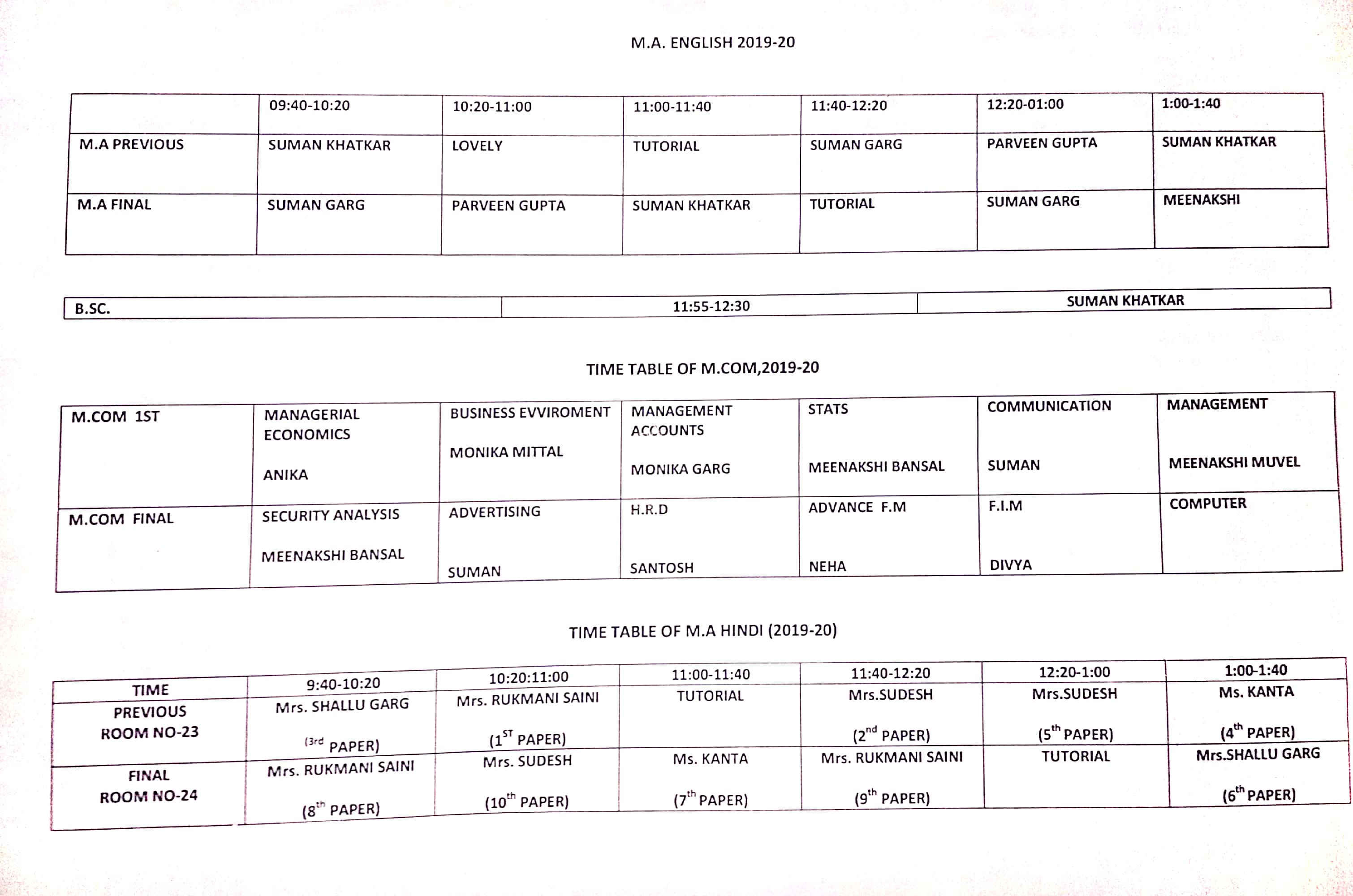PG Time table_1